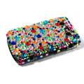 Bling Point crystals cases diamond covers for Blackberry Bold 9700 - Blue