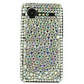 Bling Point crystals cases diamond covers for HTC Incredible S S710e G11 - White