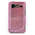 Bling Point crystals cases diamonds covers for HTC Incredible S S710e G11 - Pink