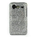 Bling Point crystals cases diamonds covers for HTC Incredible S S710e G11 - White