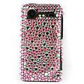 Bling Points crystals cases diamond covers for HTC Incredible S S710e G11 - Pink