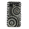 Bling Round crystals cases diamond covers for HTC Incredible S S710e G11 - Black