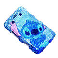 Bling Sitich crystals cases diamond covers for Blackberry Bold 9700 - Blue
