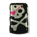 Bling Skull crystals cases diamonds covers for Blackberry 9700 - Black