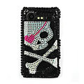 Bling Skull crystals hard cases diamond covers for HTC Incredible S S710e G11 - Black