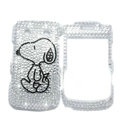 Bling Snoopy crystals cases diamond covers for Blackberry Bold 9700 - White