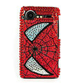 Bling Spider Man crystals cases diamond covers for HTC Incredible S S710e G11 - Red