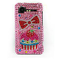 Bling Strawberry Cake crystals cases diamond covers for HTC Incredible S S710e G11 - Pink