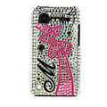 Bling bowknot crystals cases diamond covers for HTC Incredible S S710e G11 - Pink