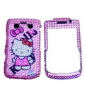 Bling hello kitty crystals cases diamond covers for Blackberry Bold 9700 - Pink