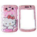 Bling hello kitty crystals cases diamonds covers for Blackberry Bold 9700 - Pink
