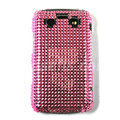 Bling point crystals cases diamonds covers for Blackberry 9700 - Pink