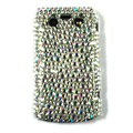 Bling point crystals cases diamonds covers for Blackberry 9700 - White