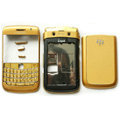 Front and Back Housing With Keypad Fullset For Blackberry 9700 BOLD 2 Mobile Phone - Gold