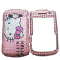 Hello kitty bling crystals cases diamond covers for Blackberry Bold 9700 - Pink