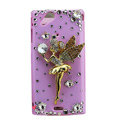 Bling Angel crystals cases diamond covers for Sony Ericsson Xperia Arc LT15I X12 LT18i - Pink
