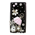 Bling Ballet girl crystals cases covers for Sony Ericsson Xperia Arc LT15I X12 LT18i - Black