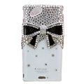 Bling Bowknot crystals cases covers for Sony Ericsson Xperia Arc LT15I X12 LT18i - White