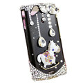 Bling Carousel crystals cases diamond covers for Sony Ericsson Xperia Arc LT15I X12 LT18i - Black