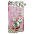 Bling Carousel crystals cases diamond covers for Sony Ericsson Xperia Arc LT15I X12 LT18i - Pink
