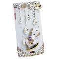 Bling Carousel crystals cases diamond covers for Sony Ericsson Xperia Arc LT15I X12 LT18i - White