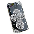 Bling Cross crystals cases covers for Sony Ericsson Xperia Arc LT15I X12 LT18i - Black