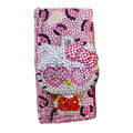 Bling Hello kitty crystals cases covers for Sony Ericsson Xperia Arc LT15I X12 LT18i - Pink
