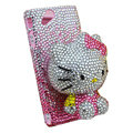 Bling Hello kitty crystals cases diamond covers for Sony Ericsson Xperia Arc LT15I X12 LT18i - Pink