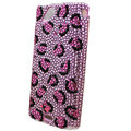 Bling Leopard crystals cases diamond covers for Sony Ericsson Xperia Arc LT15I X12 LT18i - Pink
