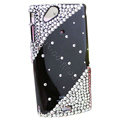 Bling crystals cases diamond covers for Sony Ericsson Xperia Arc LT15I X12 LT18i - Black