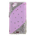 Bling crystals cases diamond covers for Sony Ericsson Xperia Arc LT15I X12 LT18i - Pink
