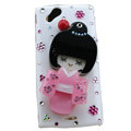 Bling kimono doll crystals cases covers for Sony Ericsson Xperia Arc LT15I X12 LT18i - Pink