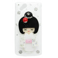 Bling kimono doll crystals cases covers for Sony Ericsson Xperia Arc LT15I X12 LT18i - White