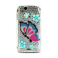 Butterfly bling crystals cases covers for Sony Ericsson Xperia Arc LT15I X12 LT18i - Blue