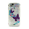 Butterfly bling crystals cases covers for Sony Ericsson Xperia Arc LT15I X12 LT18i - Purple