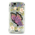 Butterfly bling crystals cases covers for Sony Ericsson Xperia Arc LT15I X12 LT18i - Yellow