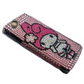 Cut gril bling crystals cases covers for Sony Ericsson Xperia Arc LT15I X12 LT18i - Pink
