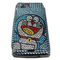 Doraemon bling crystals cases covers for Sony Ericsson Xperia Arc LT15I X12 LT18i - Blue