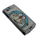 Doraemon bling crystals cases covers for Sony Ericsson Xperia Arc LT15I X12 LT18i - White