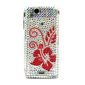 Flower bling crystals cases covers for Sony Ericsson Xperia Arc LT15I X12 LT18i - White