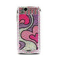 Heart bling crystals cases covers for Sony Ericsson Xperia Arc LT15I X12 LT18i - Red