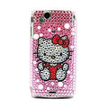 Hello kitty bling crystals cases cover for Sony Ericsson Xperia Arc LT15I X12 LT18i - Pink