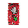 Hello kitty bling crystals cases covers for Sony Ericsson Xperia Arc LT15I X12 LT18i - Red