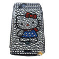 Hello kitty bling crystals cases covers for Sony Ericsson Xperia Arc LT15I X12 LT18i - White