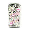 I love you bling crystals cases covers for Sony Ericsson Xperia Arc LT15I X12 LT18i - Pink