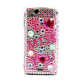 I miss you bling crystals cases covers for Sony Ericsson Xperia Arc LT15I X12 LT18i - Pink