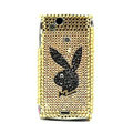 Playboy bling crystals cases covers for Sony Ericsson Xperia Arc LT15I X12 LT18i - Yellow