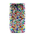 Point bling crystals cases covers for Sony Ericsson Xperia Arc LT15I X12 LT18i - Green