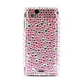 Point bling crystals cases covers for Sony Ericsson Xperia Arc LT15I X12 LT18i - Pink