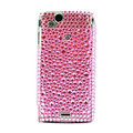 Point bling crystals cases diamonds covers for Sony Ericsson Xperia Arc LT15I X12 LT18i - Pink